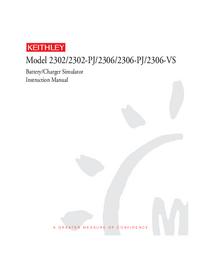 Service- und Bedienungsanleitung Keithley 2302-PJ