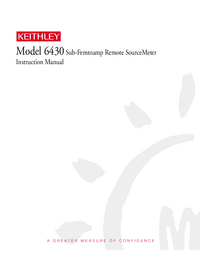 User Manual Keithley 6430