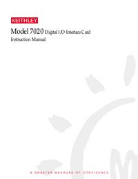 Instrukcja serwisowa Keithley 7020