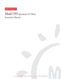 Servizio e manuale utente Keithley 595
