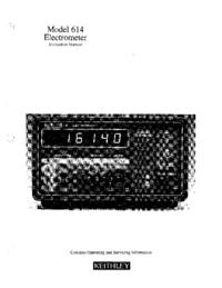 Servicio y Manual del usuario Keithley 614