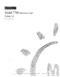 User Manual Keithley 7706