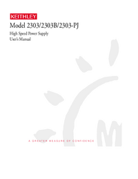 Manuale d'uso Keithley 2303B