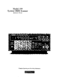 Service and User Manual Keithley 199