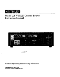 Service and User Manual Keithley 228