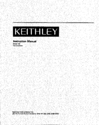 Service and User Manual Keithley 148