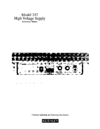 Service and User Manual Keithley 247