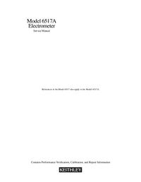 Servicehandboek Keithley 6517A