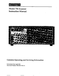 Service and User Manual Keithley 706