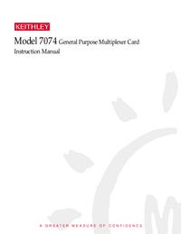 Servizio e manuale utente Keithley 7074