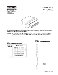 Manual del usuario Keithley 4500-ILK-KIT-1