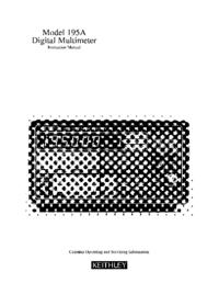 Serviço e Manual do Usuário Keithley 195A