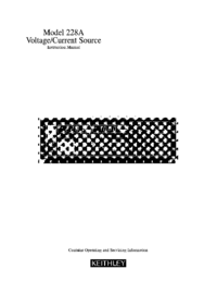 Servicio y Manual del usuario Keithley 228A