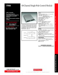 Технический паспорт Keithley 7705