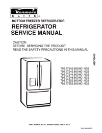 Service Manual Kenmore 795.77253.600/601/602