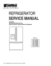 Service Manual Kenmore 795.77562600