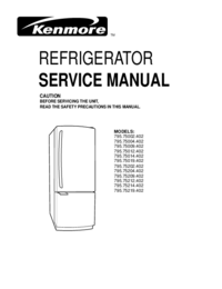 Service Manual Kenmore 795.75009.402
