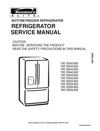 Service Manual Kenmore 795.78343.800