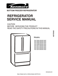Service Manual Kenmore 795.78316.800/801/802