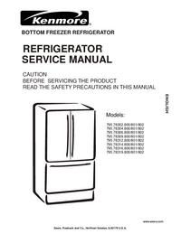 Servicehandboek Kenmore 795.78309.800/801/802