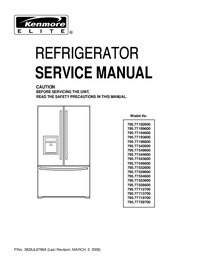 Service Manual Kenmore 795.77559600