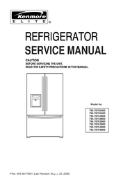 Service Manual Kenmore 795.78759800