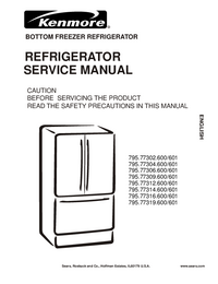 Service Manual Kenmore 795.77314.600/601