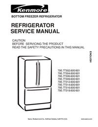 Manual de servicio Kenmore 795.77306.600/601