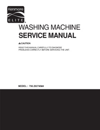 Service Manual Kenmore 796.2927#0##