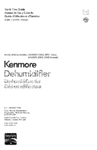 User Manual Kenmore 251.25012