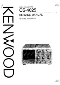 Manuale di servizio Kenwood CS-4025