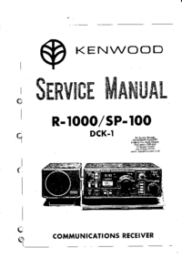 Service Manual Kenwood R-1000