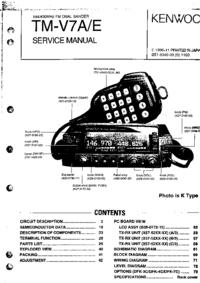 Service Manual Kenwood TM-V7E