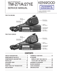 Service Manual Kenwood TM-271E