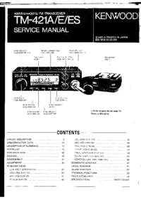 Service Manual Kenwood TM-421ES