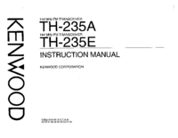 Service and User Manual Kenwood TH-235A