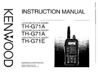 Service and User Manual Kenwood TH-G71A