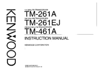 Manual del usuario Kenwood TM-261EJ