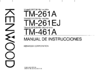 User Manual Kenwood TM-461A