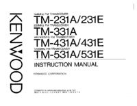 User Manual Kenwood TM-431A