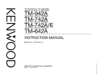 Manual do Usuário Kenwood TM-942A