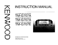 Manual do Usuário Kenwood TM-G707E