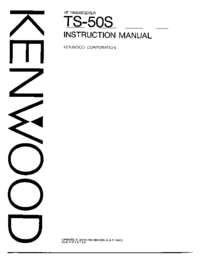 User Manual Kenwood TS-50S