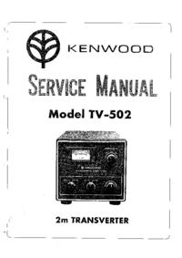 User Manual with schematics Kenwood TV-502