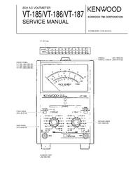 Manual de servicio Kenwood VT-187