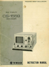 Service and User Manual Kenwood CS-1559