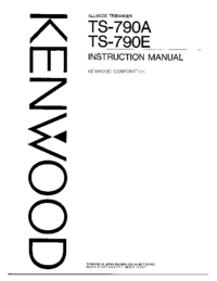 Service Manual Kenwood TS-790A