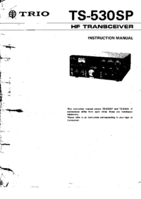 Service and User Manual Kenwood TS-530SP