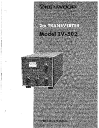 User Manual Kenwood TV-502