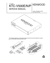 Service Manual Kenwood KTC-V500P